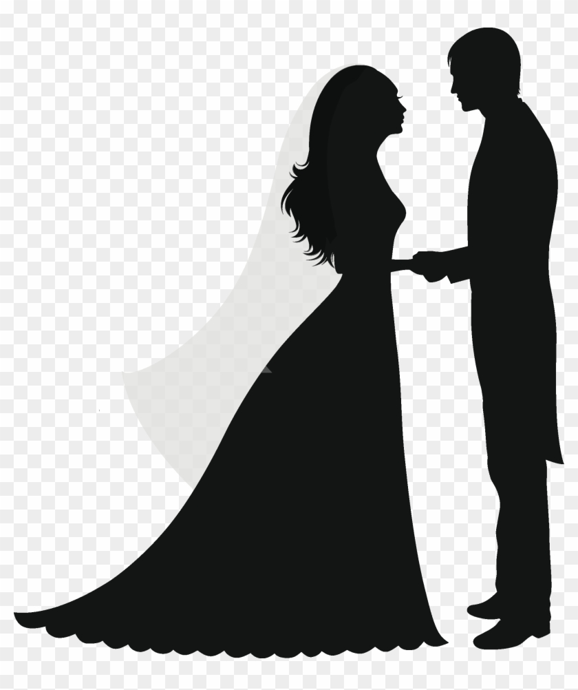Married Couples, Wedding Cards, Screen Printing, Clip - Wedding Silhouette No Background #401824