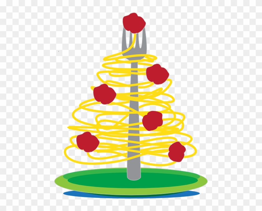 Spaghetti Tree Clip Art At Clker - Christmas Spaghetti And Meatballs #402007