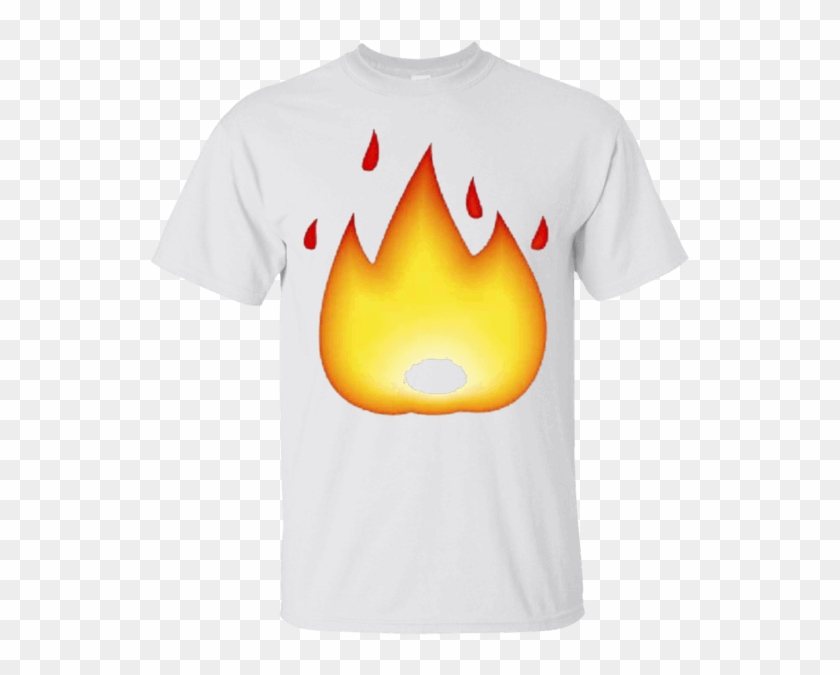Fire Emoji T-shirt Hot Flame Emoticon On Fire It's - Fire Emoji Transparent #402173
