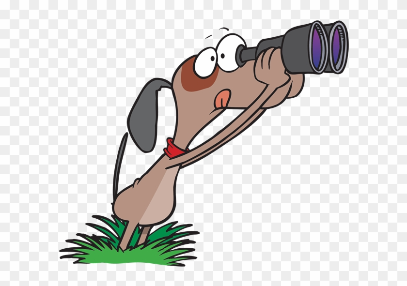Dog Looking Through A Pair Of Binoculars Looking Ahead Clip Art Free Transparent Png Clipart Images Download