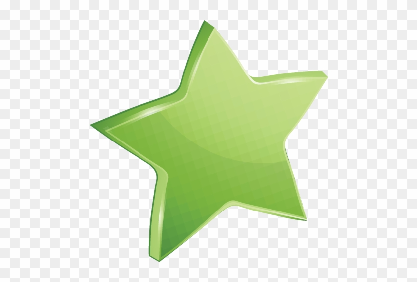 High Quality Affected Green Star Icon Transparent Background - Green Star Png #402856