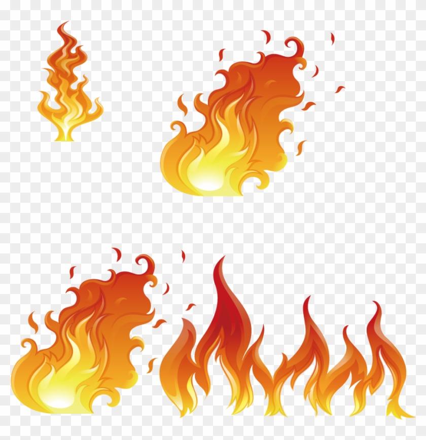 Flame Euclidean Vector Fire Illustration - Flame #403263