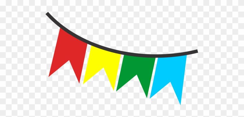 Bandeira De Festa Junina Com Fundo Transparente Png - Desenho Balao Festa Junina #403281