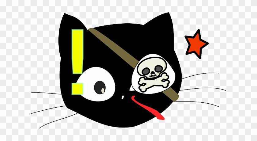 Cat Head Eyes Black Star Drawing Skull Cartoon Cat Head