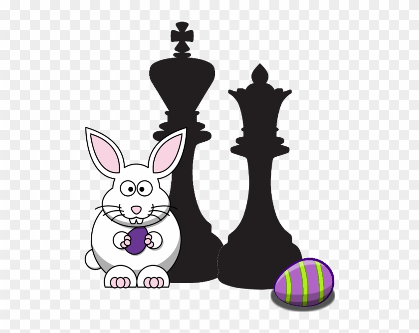 Free Chess Easter Clipart - White Easter Bunny Shower Curtain #404009