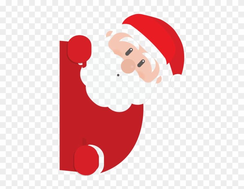 Santa Png Transparent Image - Peeking Santa Claus #404072
