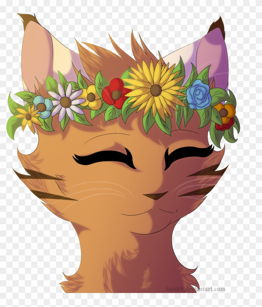 Flower Crowns Are Pretty By Kasik9 D8w38lb Cat With Flower Crown