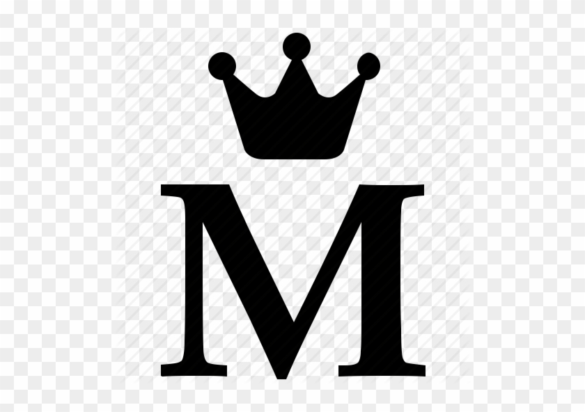 Letter M - Letter M With Crown #404566