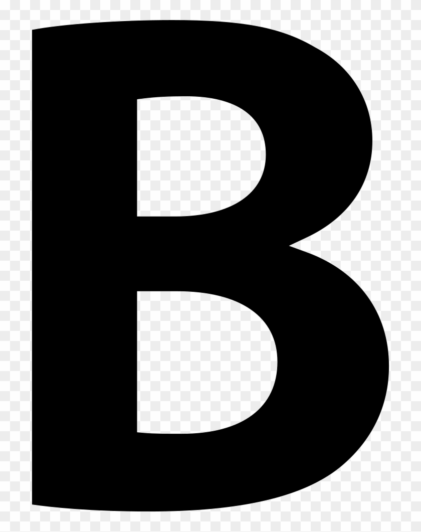 Bold Button Of Letter B Symbol Comments - Bold Icon #404719