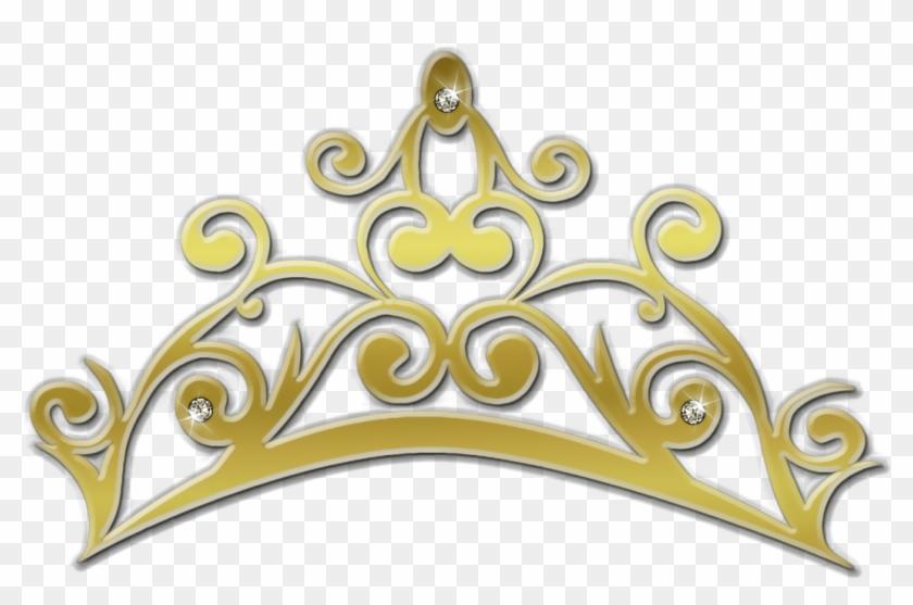 Elsa Cinderella Crown Clip Art - Golden Crown Princes Png #404752