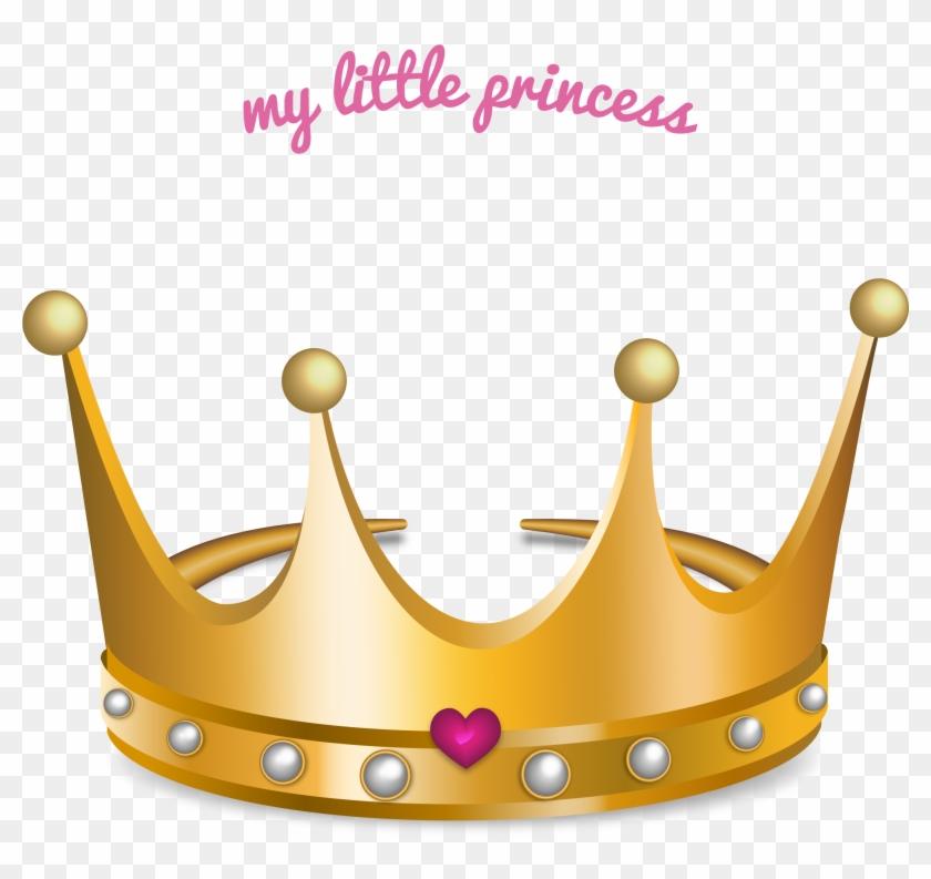 Princess Crown Gold Teeth Drawing - Gold Princess Crown Vector #404757