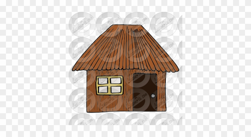 Showing Post & Media For Cartoon Stick House Clip Art - Sticks House Clipart #404811
