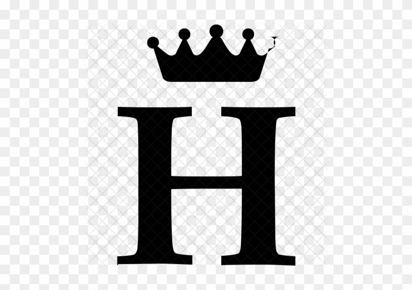 Royal, Alphabet, Crown, Letter, English, H Icon - Letter H With Crown #405046