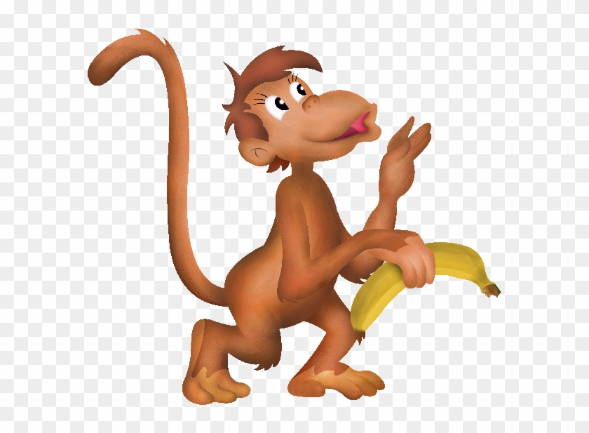 Fun Clipart Baby Monkey - Funny Baby Monkey Cartoon #405602