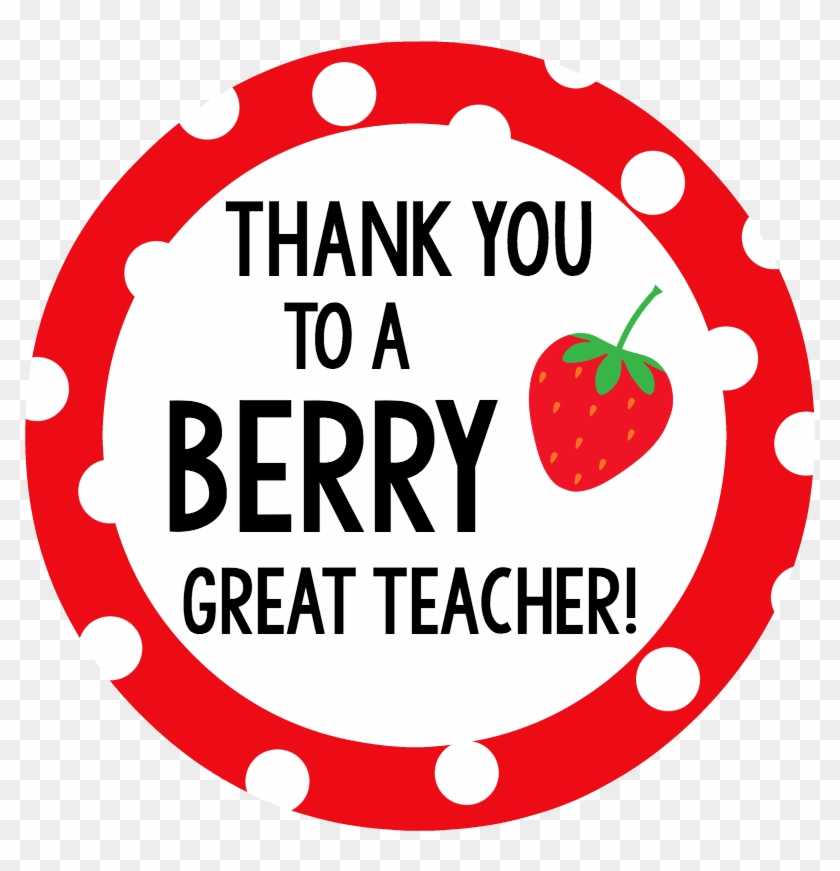 berry teacher gift tag thanks for being a berry good teacher