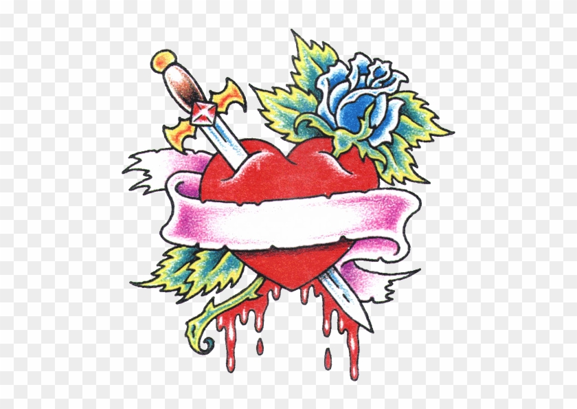 Gallery For Hearts And Roses Tattoos - Rose And Heart Tattoo Designs #405964