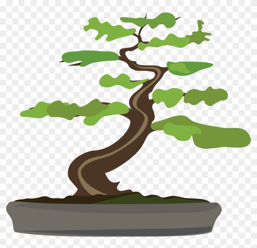 Free Clipart Of A Bonsai Tree - Bonsai Clipart #406173