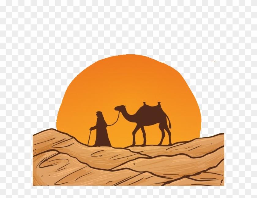 Camel Desert Drawing Euclidean Vector - Camel Drawing