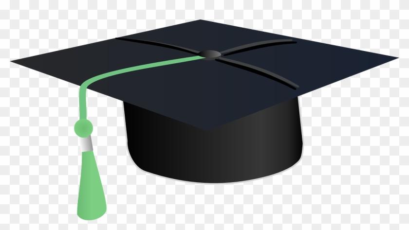 Graduate-148980 - Graduation Cap Green Tassel #406264