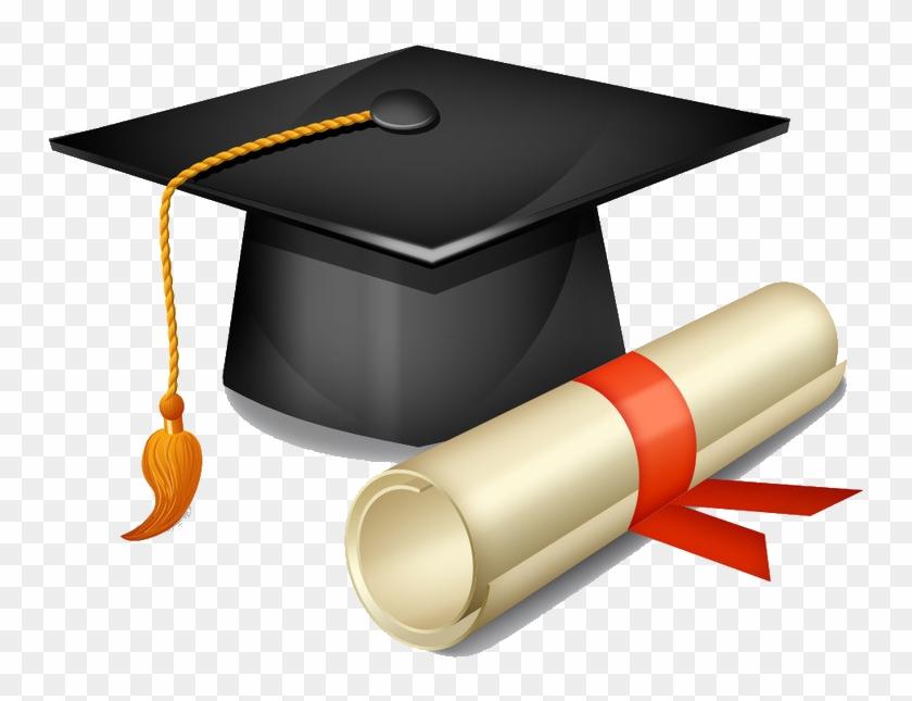 Square Academic Cap Graduation Ceremony Hat Clip Art - Graduation Cap And Diploma Png #406539