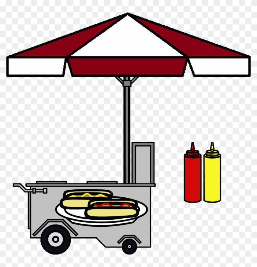 Hotdog Cart,ketchup And Mustard By Grayfox5000 - Hot Dog Stand Art #406767