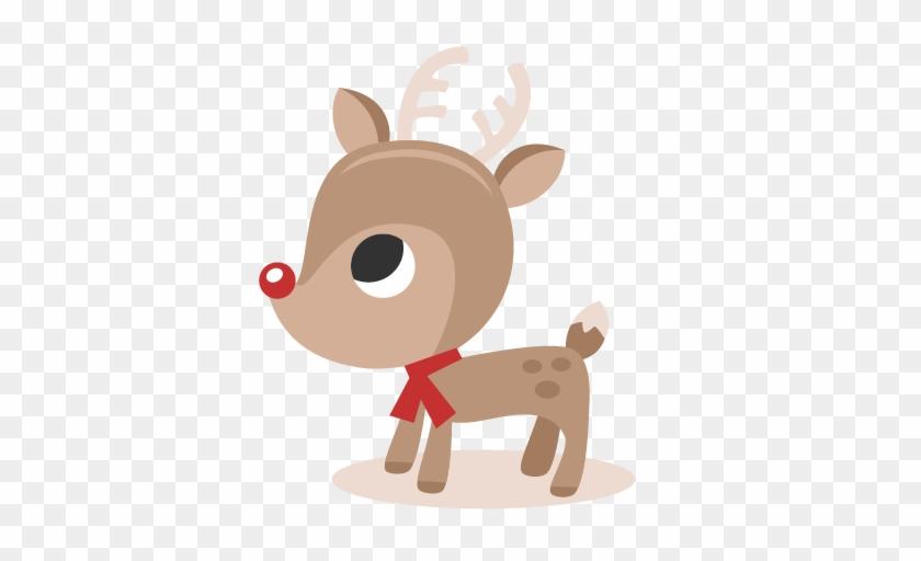 Reindeer Svg Cutting Files Christmas Svg Cut Files - Cute Christmas Reindeer Clipart #407297