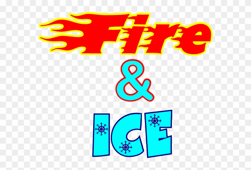 Fire & Ice - Clip Art Fire And Ice #408248