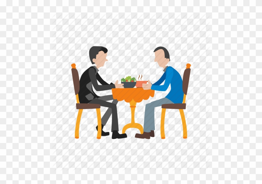 Dinner, Eating, Food, Lunch, Meal, People, Restaurant - Eating Dinner Icon Png #408465