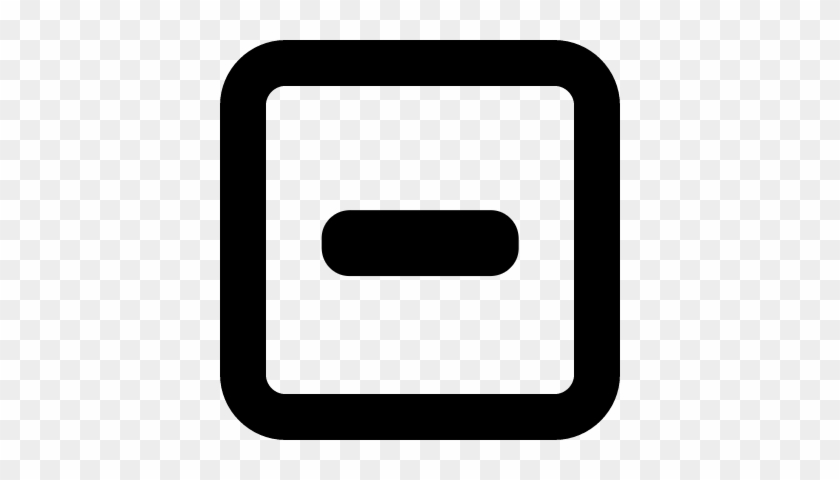 Minus In Square Outlined Interface Button Vector Math Symbols
