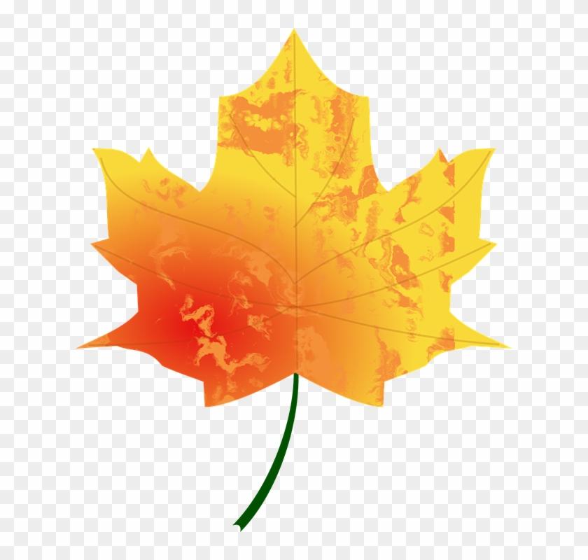 Fall Leaves Clip Art 15, - Autumn Leaf #408962