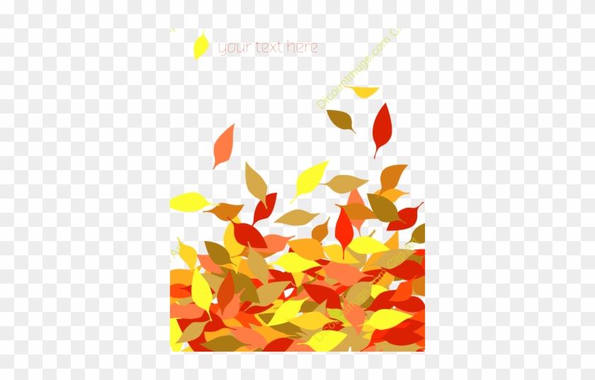 Fall Leaves Border Vector Free Clipart - Vector Fall Leaf Border #408980