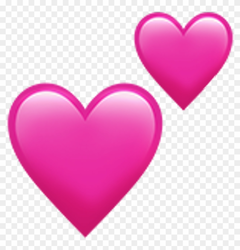 Iphone Heart Emoji Love Tumblr Heart Emoji Love Tumblr - Double Pink Heart Emoji #409049