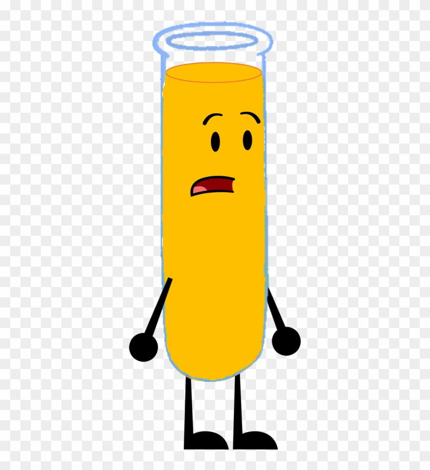 Test Tube With Orange Juice By Brownpen0 - Inanimate Insanity Test Tube #409190
