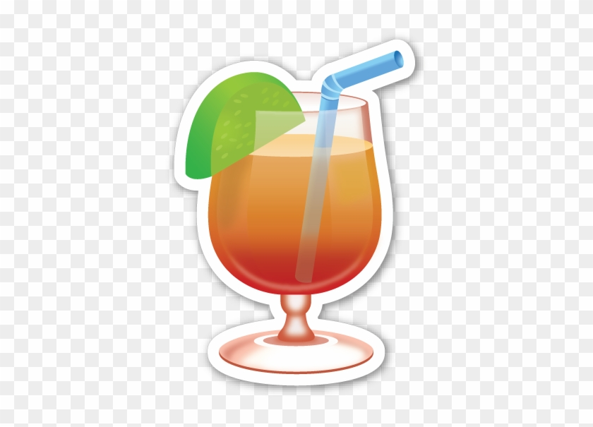 Tropical Drink Png Orange Juice Emoji Tropical Drink Emoji Png Free Transparent Png Clipart Images Download