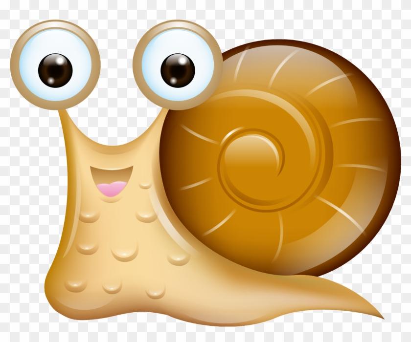 Snail Cartoon Orthogastropoda - Vector Cute Snail #409809