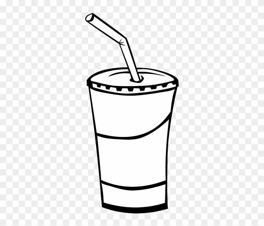 bottle icon glass food menu outline drawing cup draw a soda