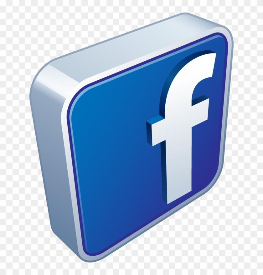 Facebook Logo 3d Png #410468