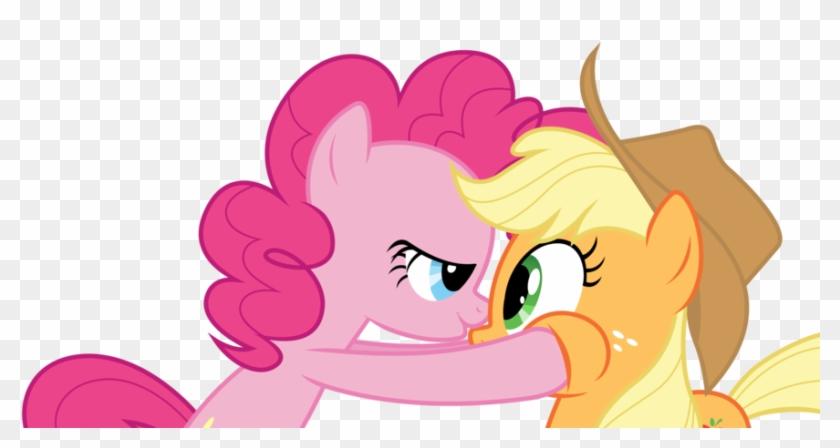 Bednarowski, Bedroom Eyes, Imminent Kissing, Pinkie - Applejack I Pinkie Pie #410690