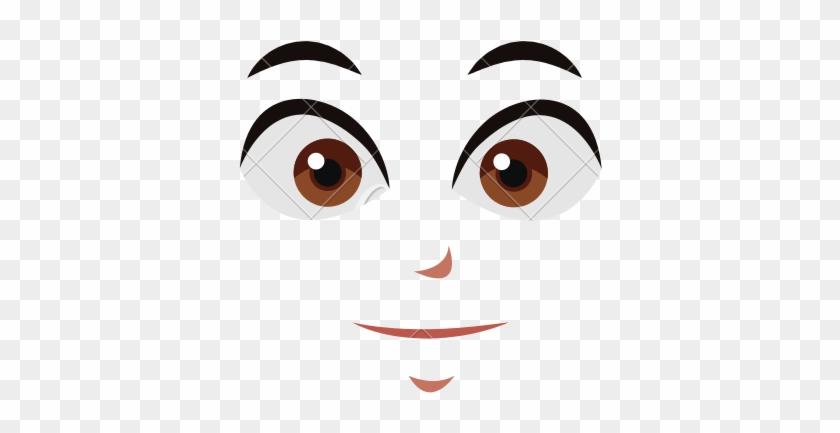 Facial Expression Eyebrow Cartoon Anime - Anime Face Vector #410756