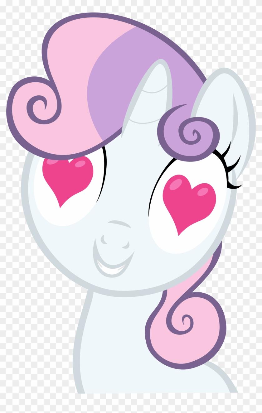Drewklettke, Heart, Heart Eyes, I Really Like Her Mane, - Sweetie Belle Heart #410808