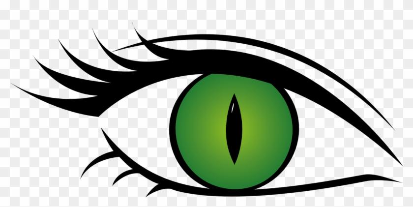 Green Eyes Clipart Cat Eye - Green Eye Transparent Background #410842