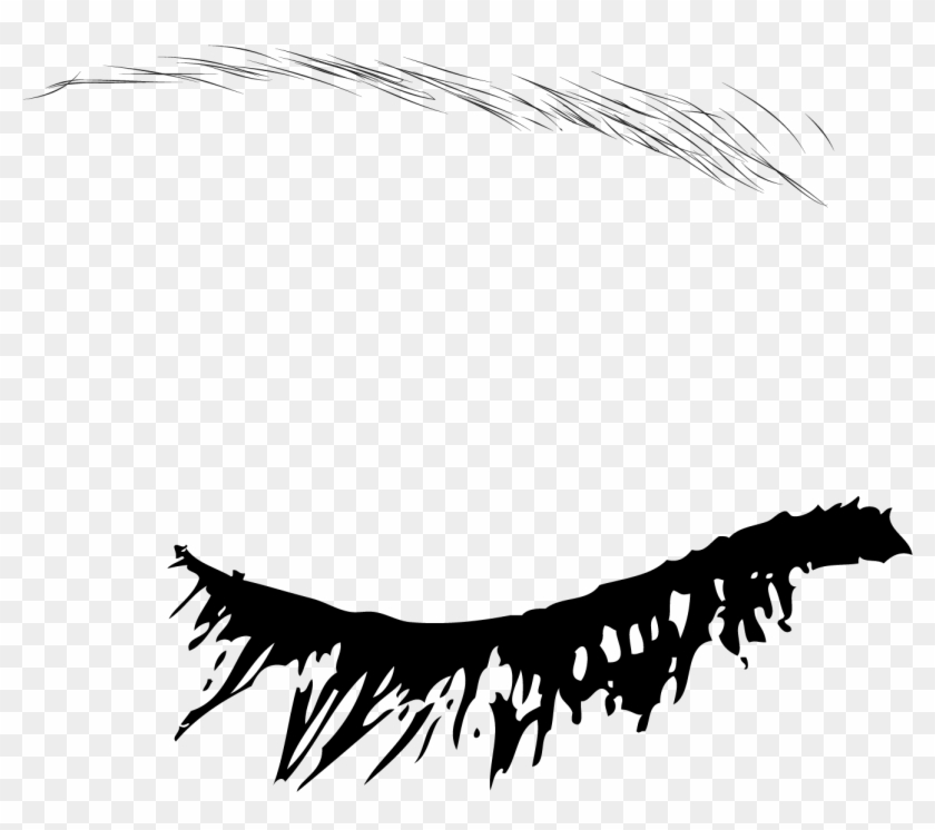 Eyebrow Euclidean Vector Draw Anime Eyes Closed Free Transparent