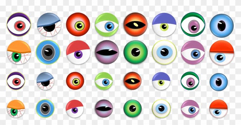 Monster Eye Ball Clip Art - Monster Eyes #410965