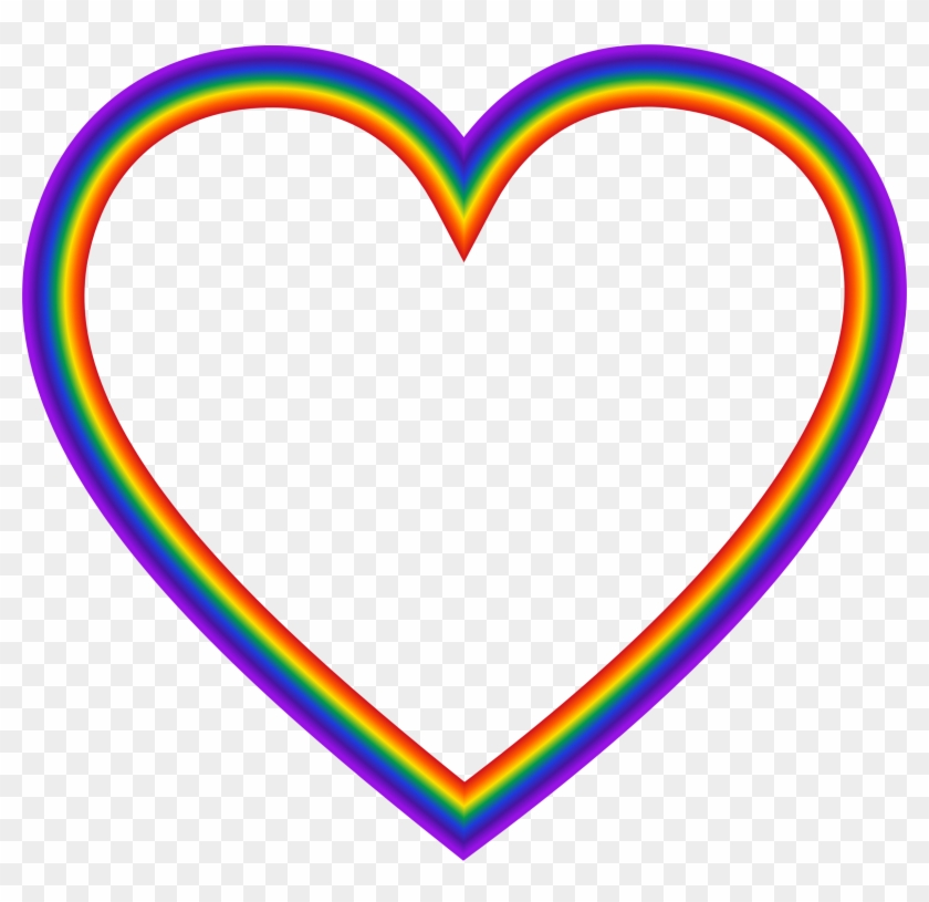 Big Image - Rainbow Heart Clipart Png #411359
