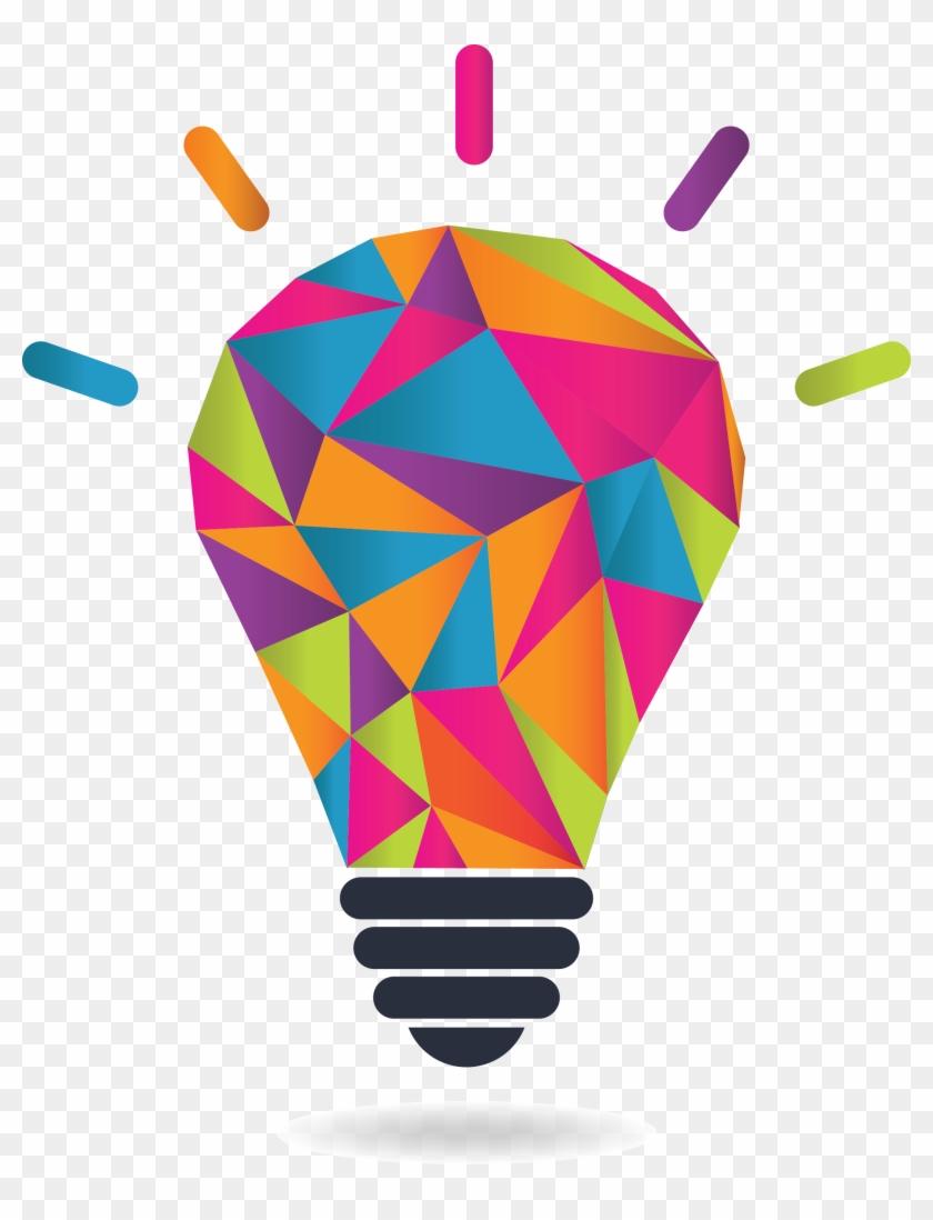 Colorful Light Bulb Transparent Logo #411421