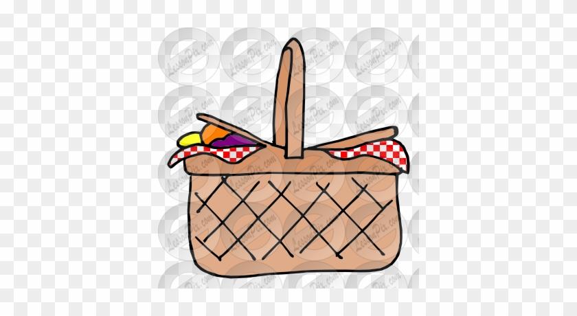 Picnic Basket Clipart Picnic Area - Picnic Basket Easy Drawing #411628