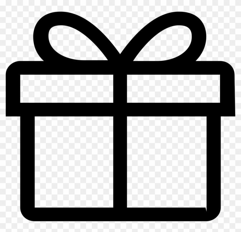Png File - Gift Icon Outline #412030