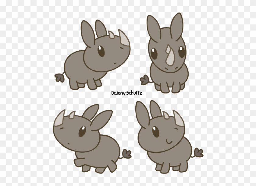 Chibi Black Rhinoceros By Daieny - Chibi Rhino #412363