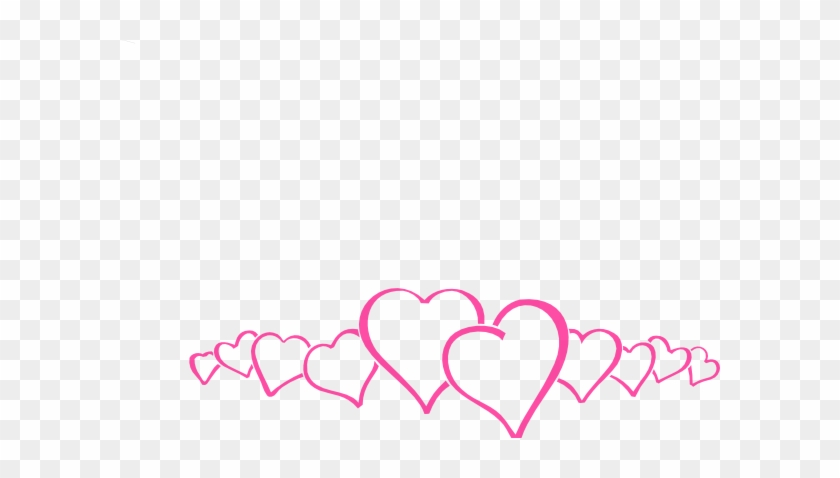 Hot Pink Heart Border Clip Art At Clipart Library - Happy Valentines Day 2018 #412870