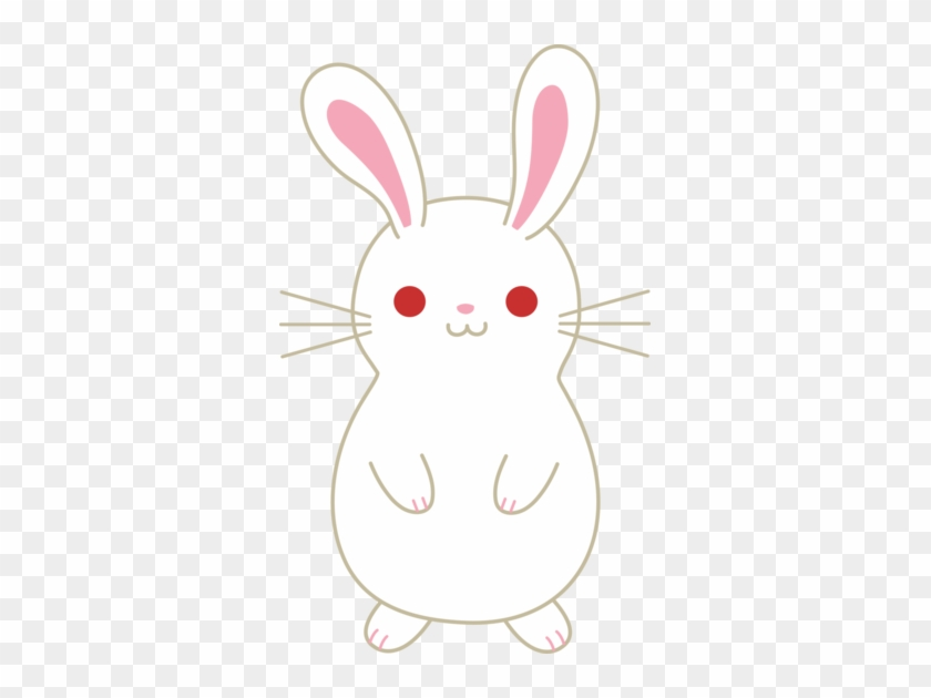 Cute White Albino Bunny Free Clip Art Kawaii Bunny Clipart Free Transparent Png Clipart Images Download